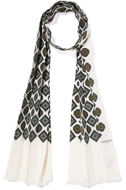 lanvin scarf silk scarf silk