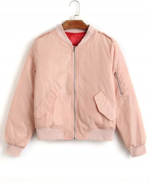 jacket girly pink light pink pink bomber jacket bomber jacket zip zip-up zip up jacket