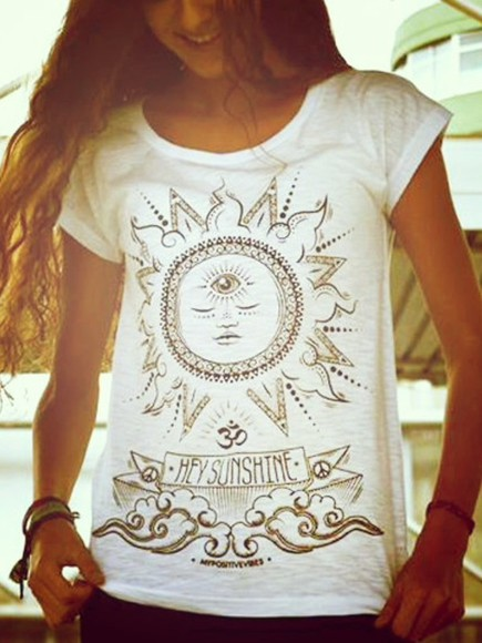 sun indie sunshine summer outfits boho t-shirt ethnic native american african blogger celebrities hindu alternative