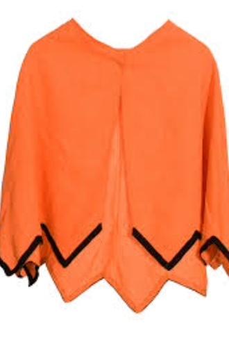 top orange top orange summer top black orange orange blouse