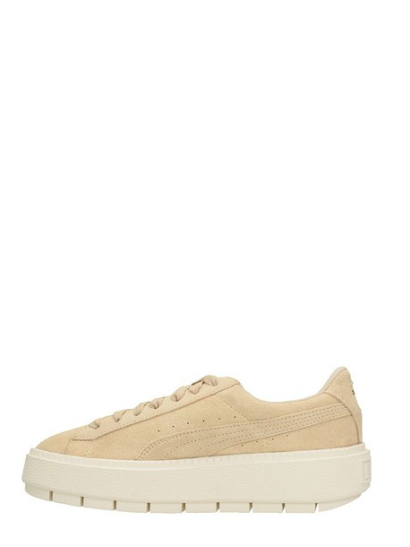 puma suede beige shoes
