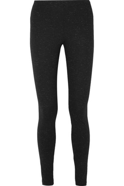 leggings metallic black pants