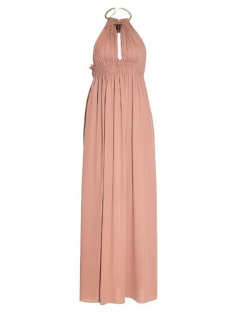 gown silk beige dress