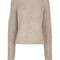 Beige mottled knit happy jumper
