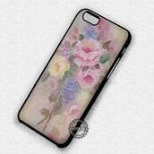 phone cover,shabby chic,flowers,painting,iphone cover,iphone case,iphone,iphone 4 case,iphone 4s,iphone 5 case,iphone 5s,iphone 5c,iphone 6 case,iphone 6 plus,iphone 6s case,iphone 6s plus cases,iphone 7 plus case,iphone 7 case,roses