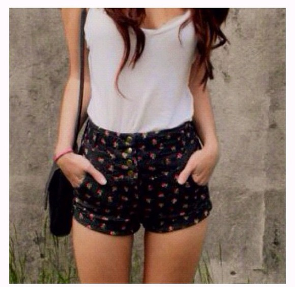 floral shorts high waisted High waisted shorts shorts floral high waist shorts