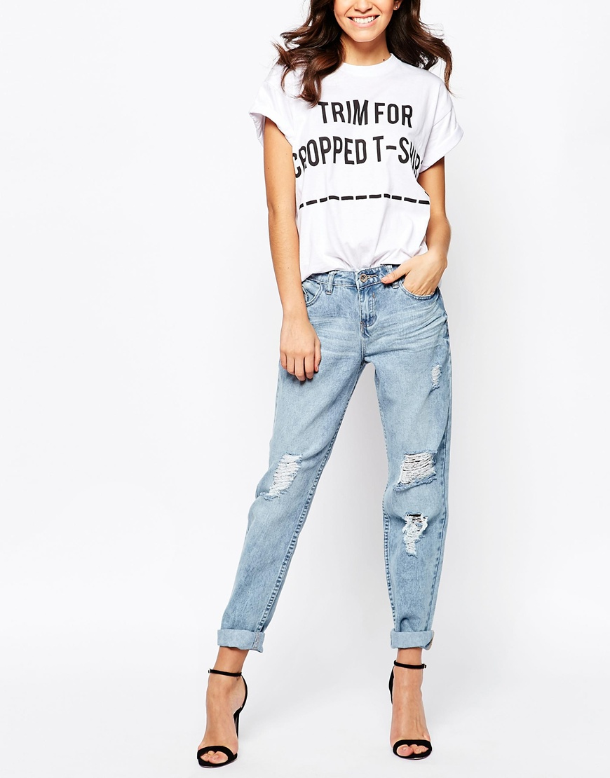 new look ripped boyfriend jeans at. Black Bedroom Furniture Sets. Home Design Ideas