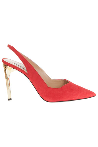 strappy suede red shoes
