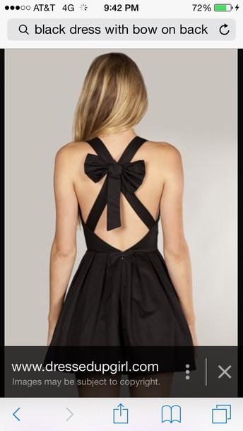 dress black bow
