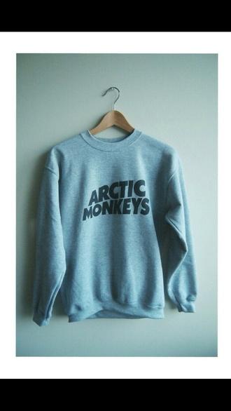 sweater grey #sweatshirt #arctic monkeys