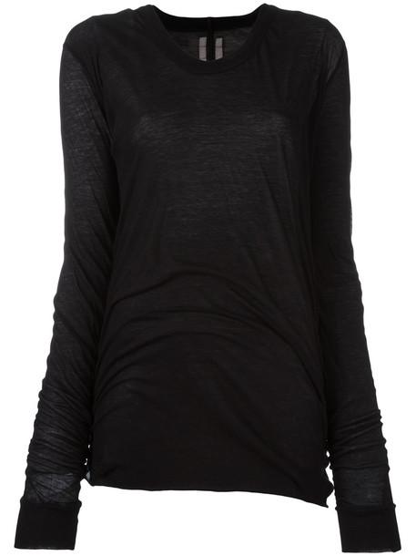 Rick Owens sweatshirt women cotton black sweater