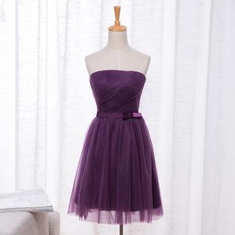 dress purple chiffon prom dress