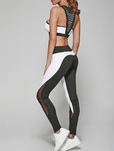 Top: yoga pants, sporty, sportswear, crop tops, summer, white ...
