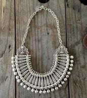 jewels,jewelry,silver,necklace,bohemian,boho