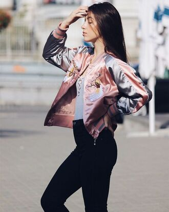 jacket zaful trendy grunge fashion style hipster hippie winter outfits fall outfits cute holographic casual chic high waisted jeans streetwear streetstyle instagram fall colors casual chic