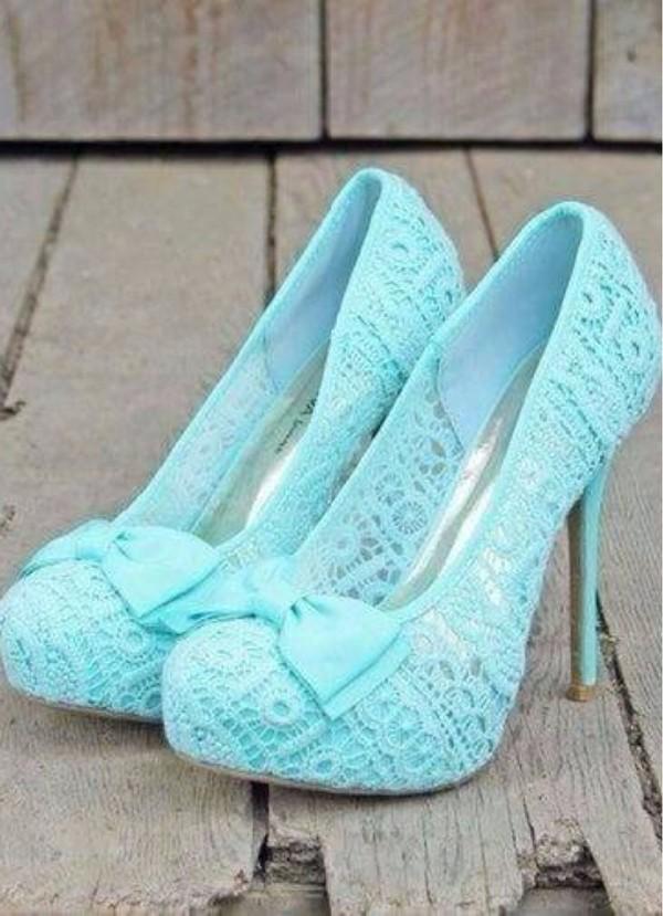 shoes high heels cute high heels blue high heels bows