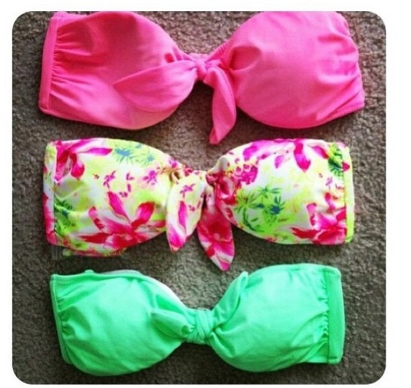 swimwear bikini neon bikini
