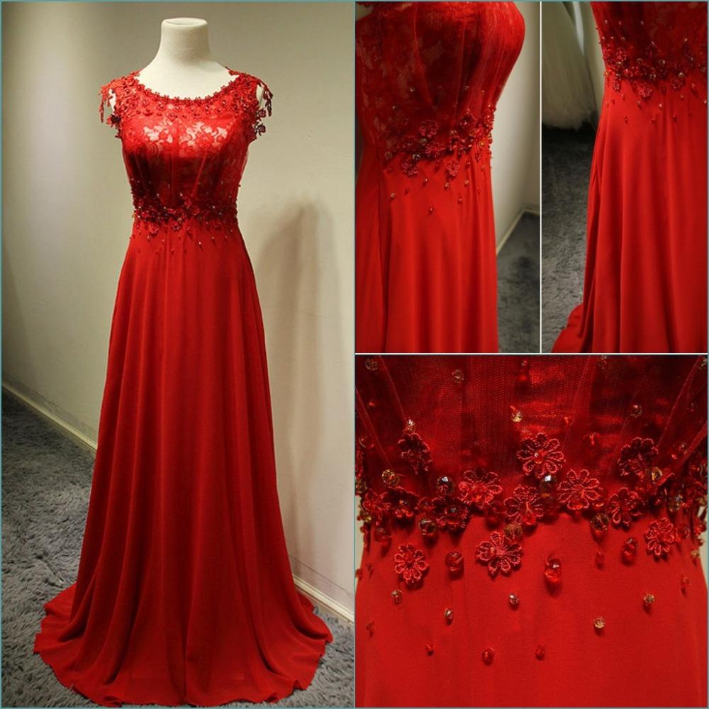 Aliexpress Prom Dress Long Sleeve Red