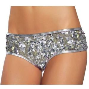 Sexy Silver Sequin HOT Pants Hotpants 8 10 12 | eBay