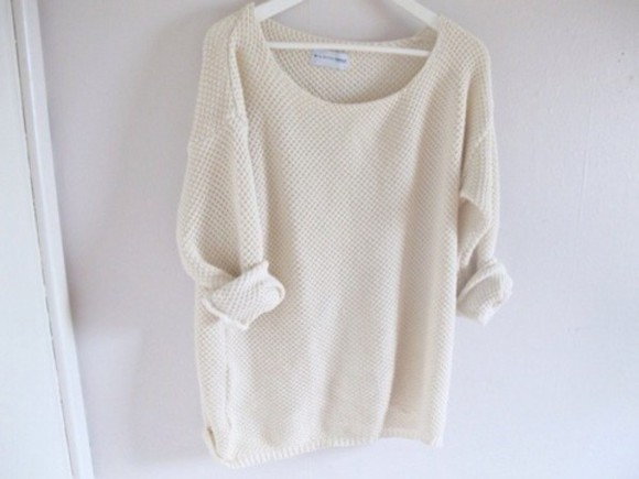 classy top knit knitted jumper comfy brandy cream outerwear warm cosy outfit clothes brandy melville