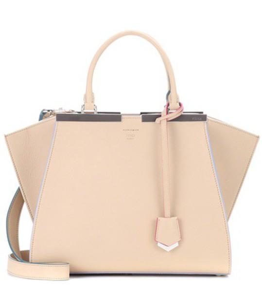Fendi leather beige bag