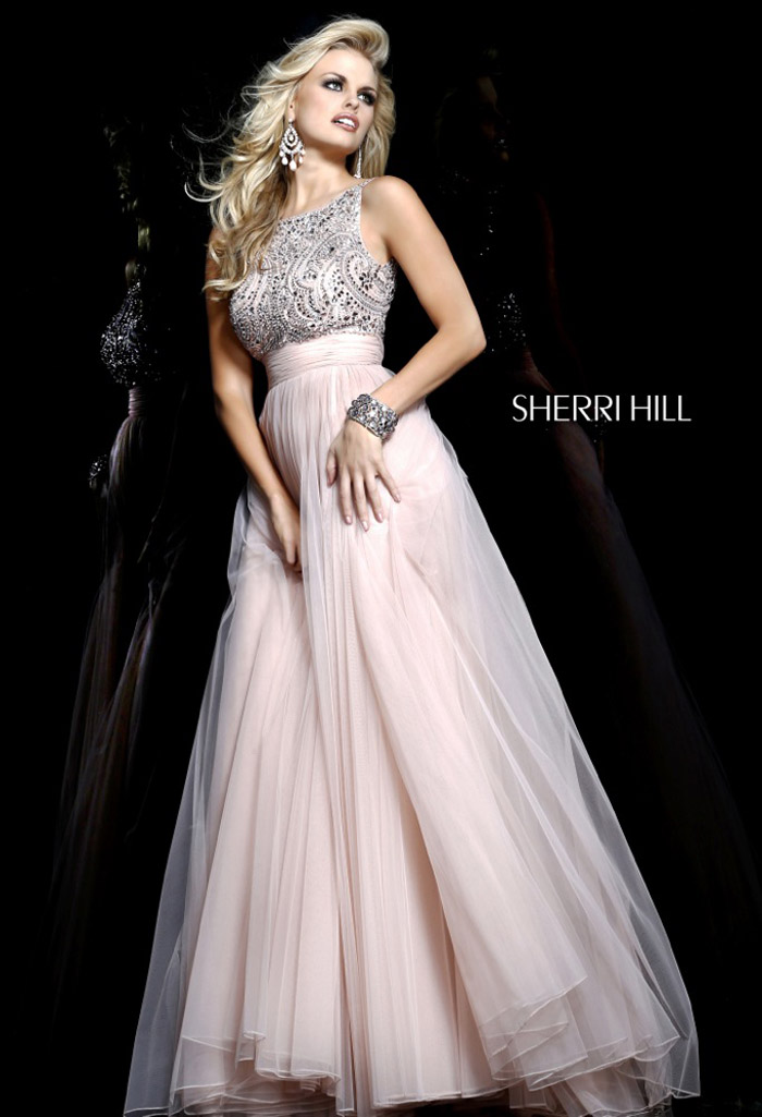 2014 Sherri Hill 11022 Nude Lace Prom Gown [Sherri Hill 11022 Sale] - $181.80  2014 New Evening ...