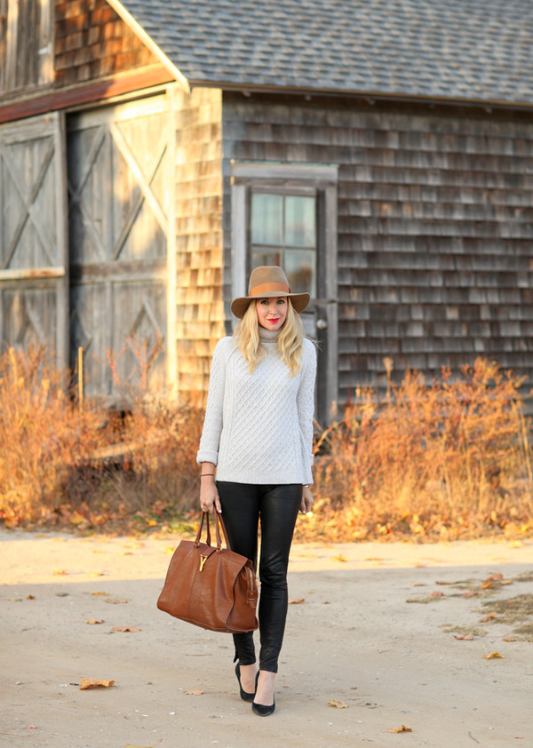 brooklyn blonde sweater pants shoes hat jewels bag