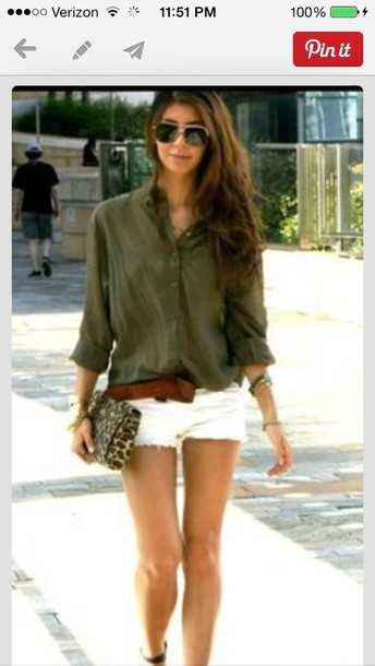 blouse olive green blouse button up blouse sheer bag leopard print