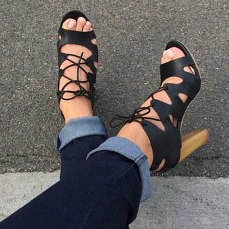 shoes black heel heels heeel chunky sole chunky heel gojane
