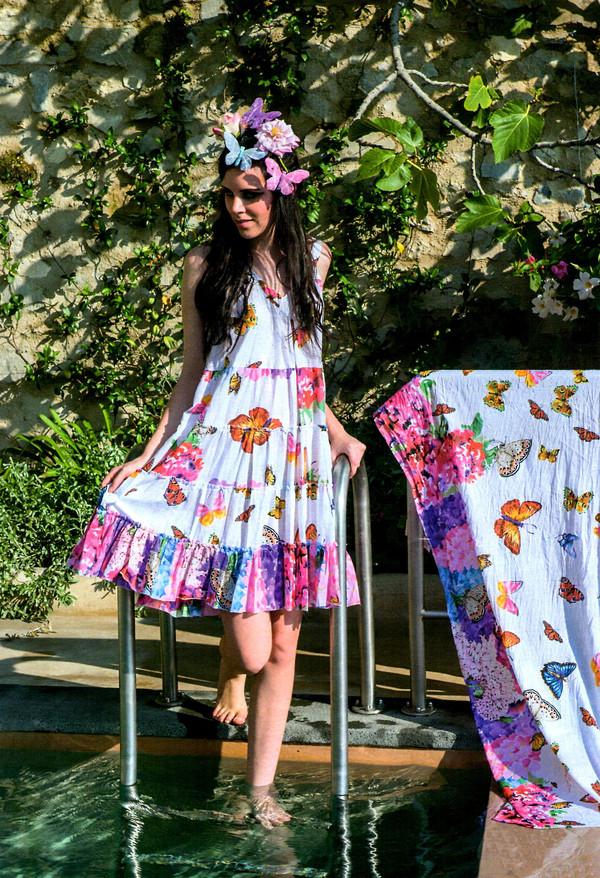 dress summer dress cotton hippie boho dress white dress