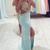 Sweetheart A-line Backless Chiffon Long Prom Dresses,Formal Dresses - 24prom