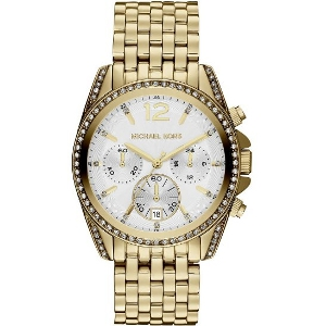 Michael Kors Mid-Size Golden Pressley Chronograph Glitz MK5835 Watch - Sale
