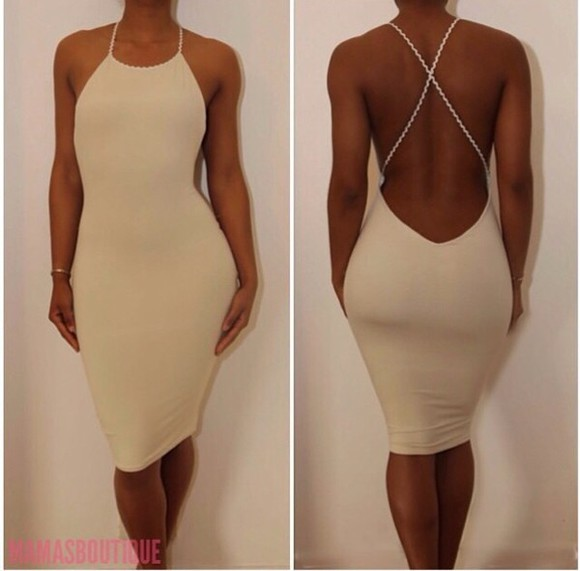 fitted dress bodycon dress dress white dress sexy ivory dress sexy dress cute dress sheath dress spaghetti straps.