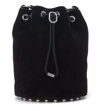 bag bucket bag suede black