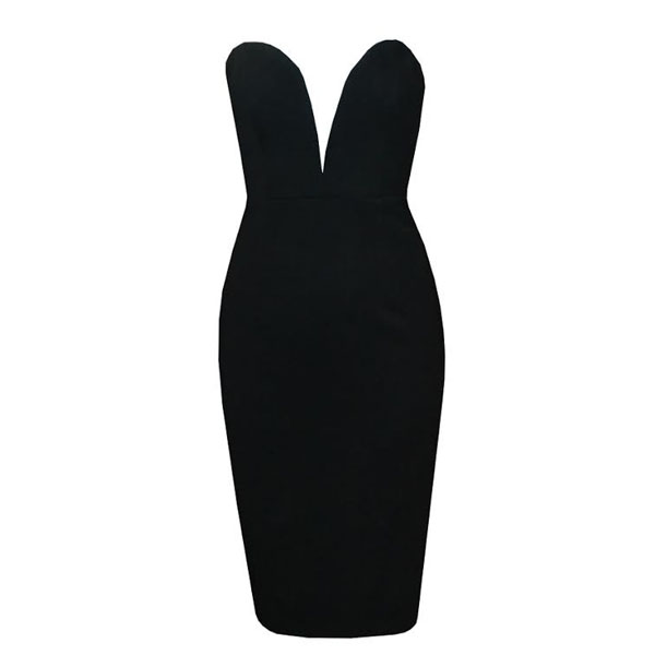 Plunge deep v pencil dress · summah breeeze · online store powered by storenvy