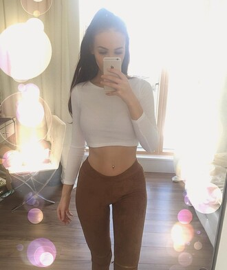 jeans suede beige brown pants high waisted fashion style pretty