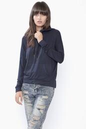 navy,soft,top,light sweater,navy top,long sleeves,hoodie