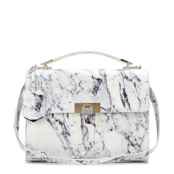 bag white balenciaga marble