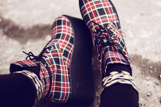 shoes unif boots tartan flannel envishoes