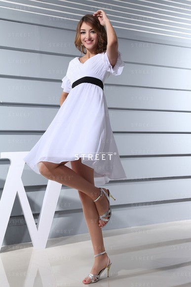 beauty white dress fashion shopping