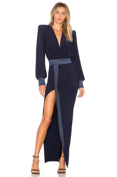 Zhivago gown navy dress