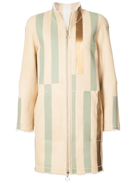 Sprung Frères coat striped coat women nude