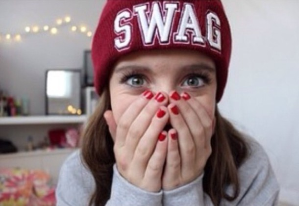 hat red beanie hipster swag tumblr girl tumblr