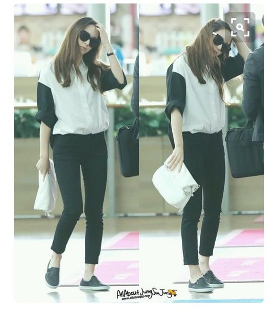 Shirt Fx Krystal Krystal Jung Sm Smtown Jeans Sunglasses Fx K Pop K Drama Korean