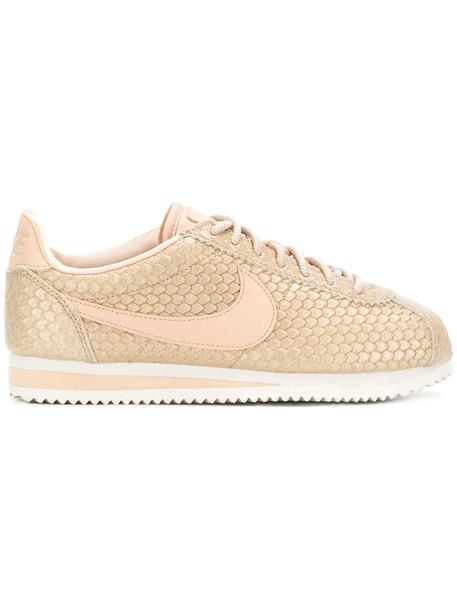 Nike - Cortez sneakers - women - rubber/Leather/Polyester - 7.5, Nude/Neutrals, rubber/Leather/Polyester