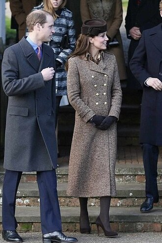 coat gloves kate middleton hat