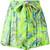 Etro - tie waist print shorts - women - Viscose - 38, Green, Viscose
