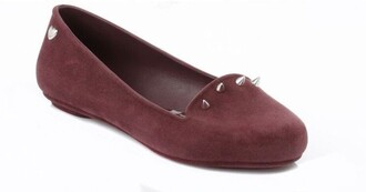 shoes flats pumps glow iii melissa mel by melissa burgundy loafers womens loafers velvet velvet shoes spiked shoes spiked leather jacket studded studded shoes melissa shoes burgundy shoe burgundy flats