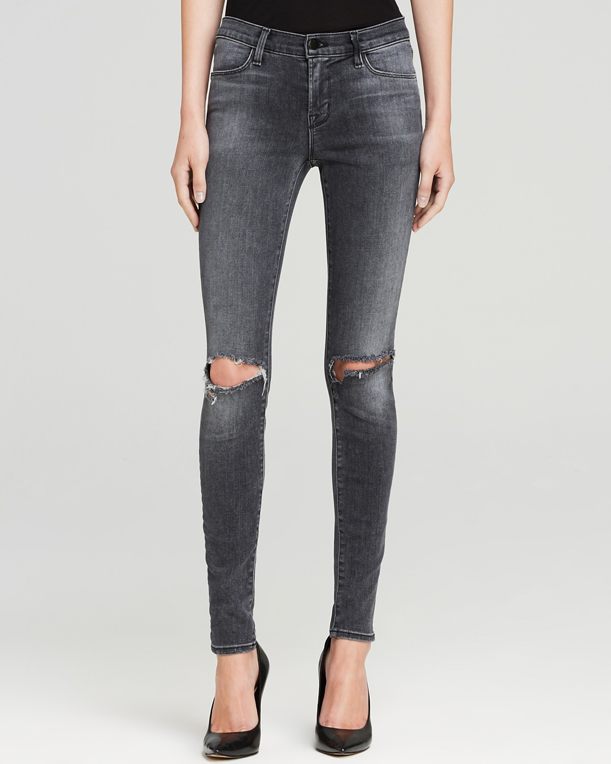 J Brand Jeans - 620 Close Cut Mid Rise Super Skinny in Nemesis | Bloomingdale's