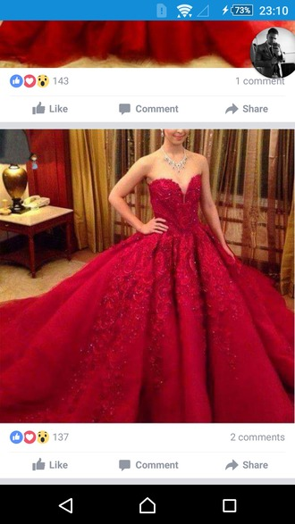 dress gown ball gown dress red dress